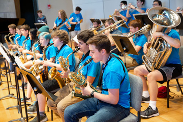 summer music camp students performing