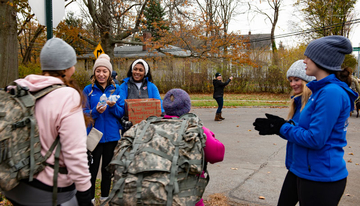 students participating in Ruck Walk