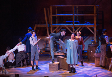 "students perform ""Peter and the Starcatcher"" in Rockefeller Arts Center"