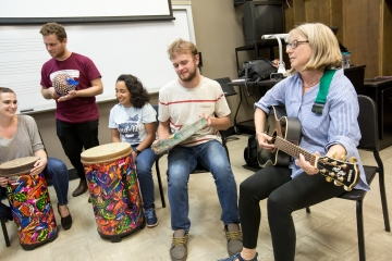 music therapy students in class