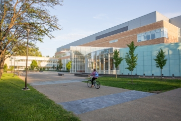 exterior photo of science center