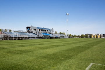 wide image of the bleachers at University Stadium