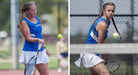 Tennis players Olivia Miller and Anna Chiacchia